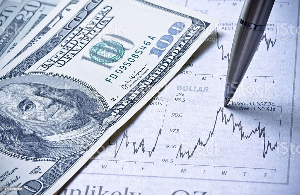 Currency Trader stock photo