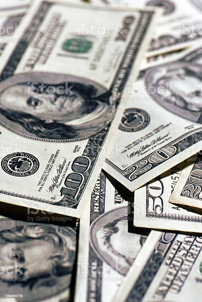 Currency U.S. Money royalty-free stock photo