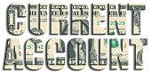 Current account. US Dollar texture.