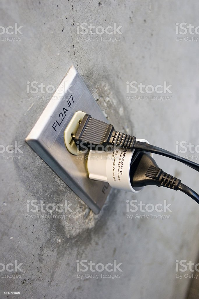 Current conversion royalty-free stock photo