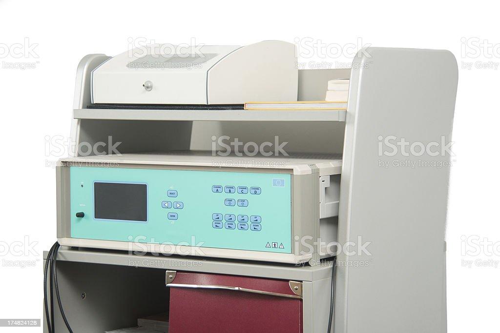 current pulse measurement machine stock photo