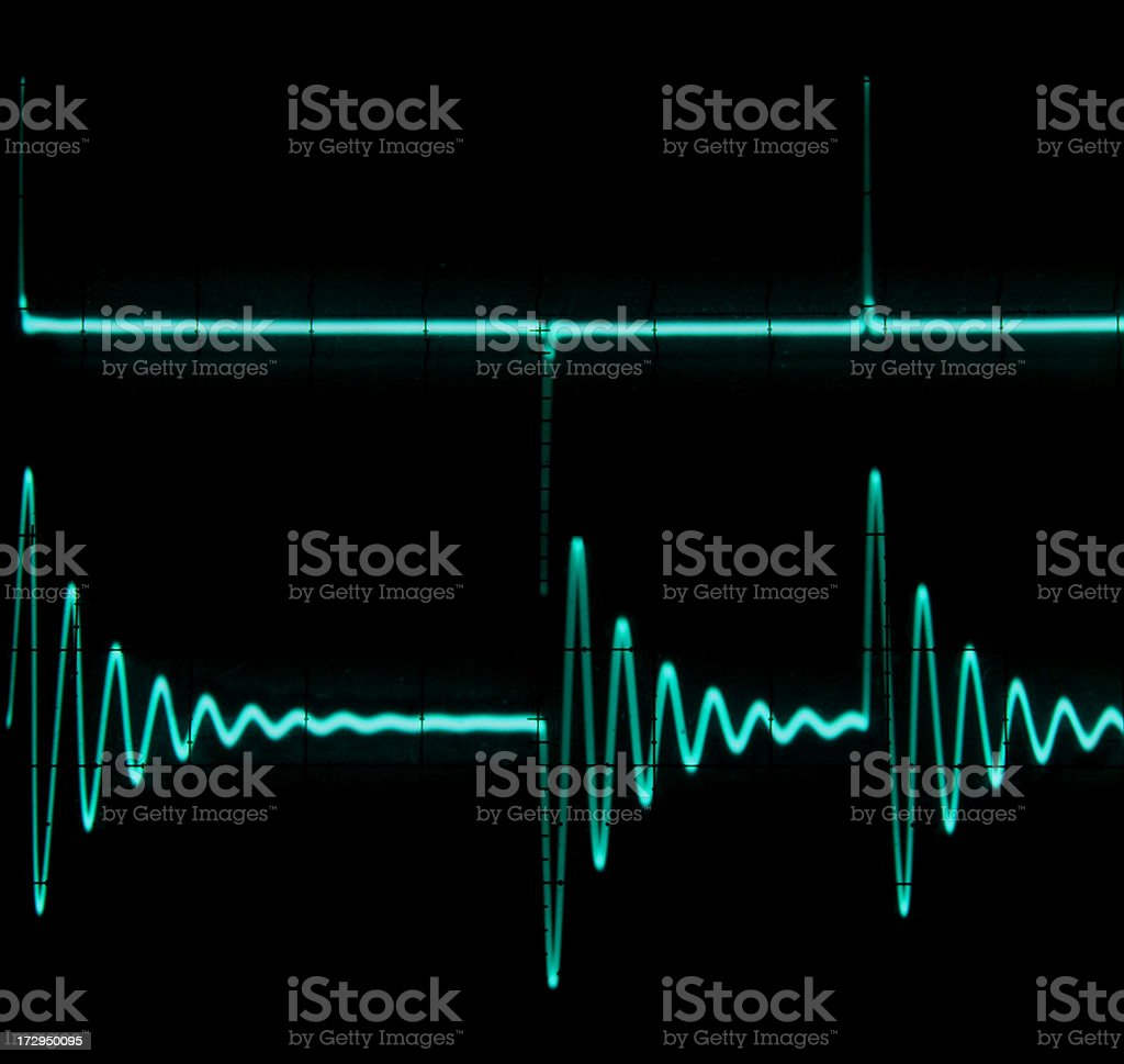 Current Ringing Waveform royalty-free stock photo