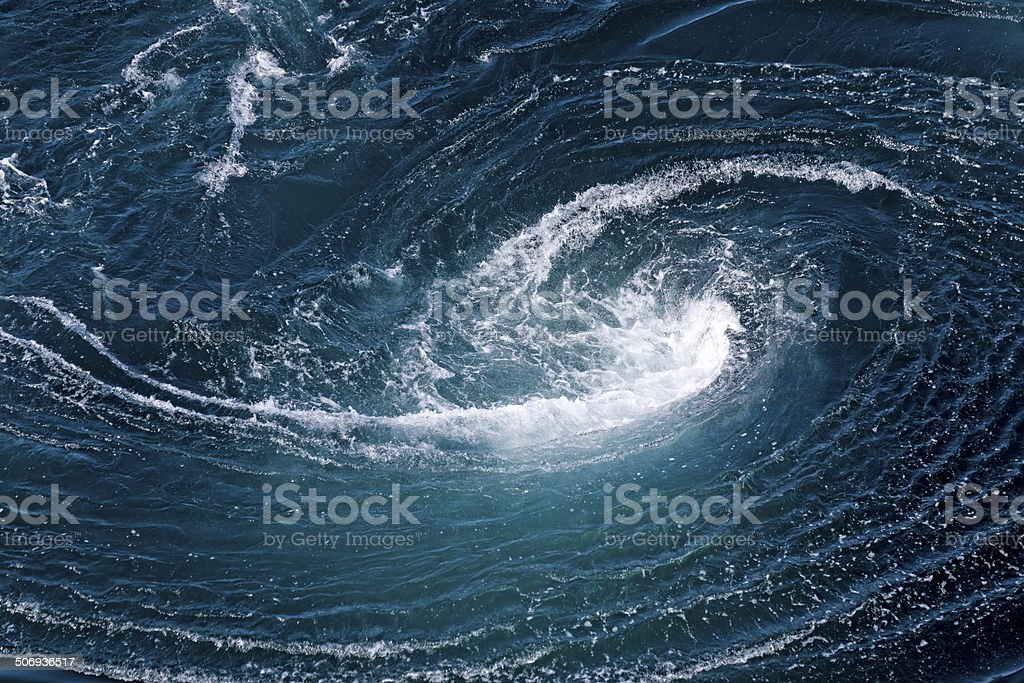 Current Tide at Saltstraumen in Norway stock photo