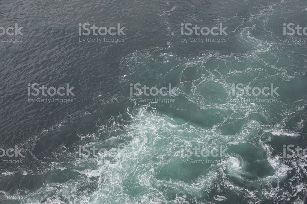Currents of Pacific Ocean and Inland Sea, Naruto Strait, Japan stock photo