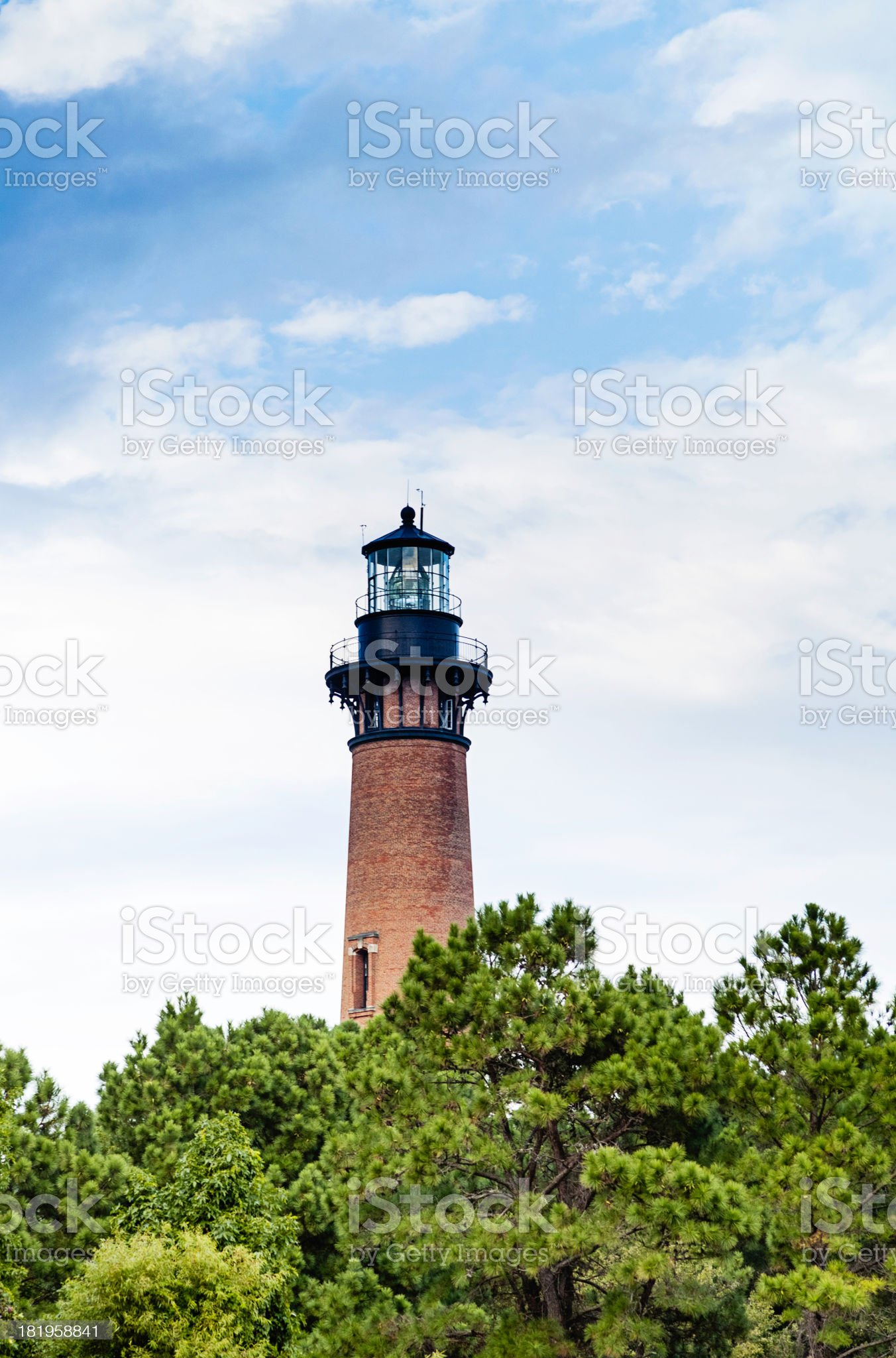 Currituck Lighthouse in North Carolina royalty-free stock photo
