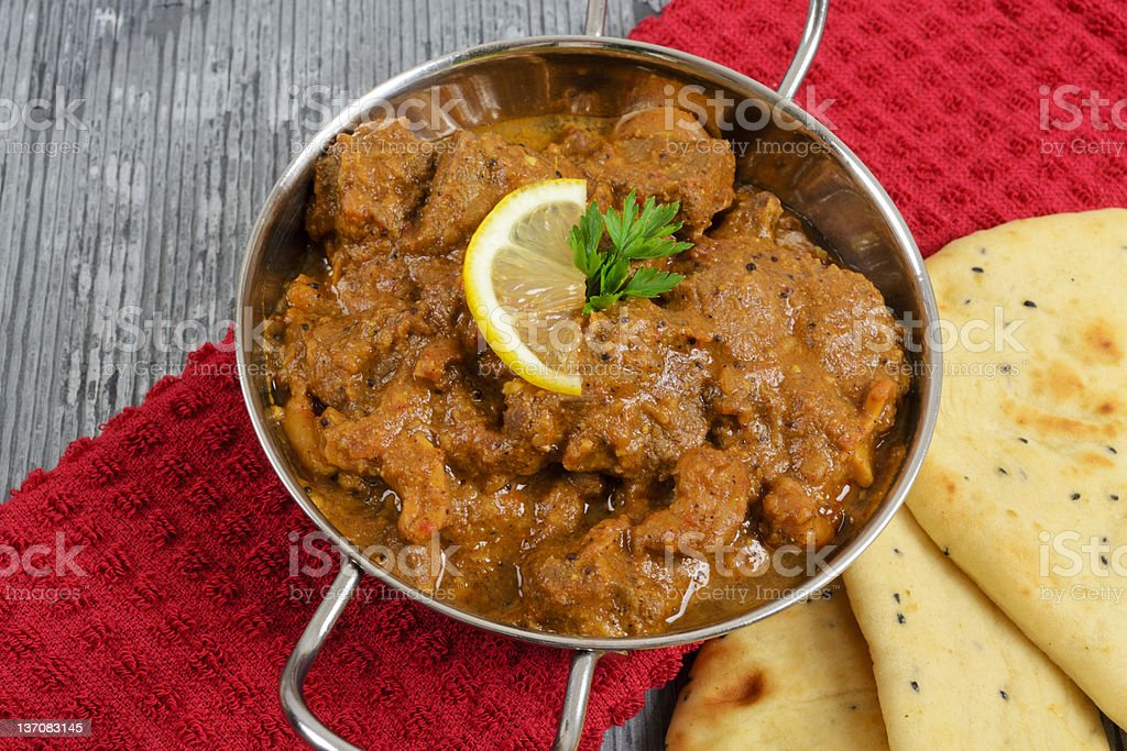 Curry & Naan royalty-free stock photo