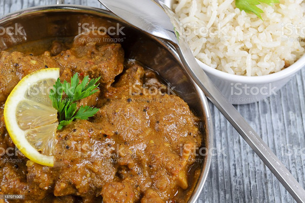 Curry & Rice royalty-free stock photo