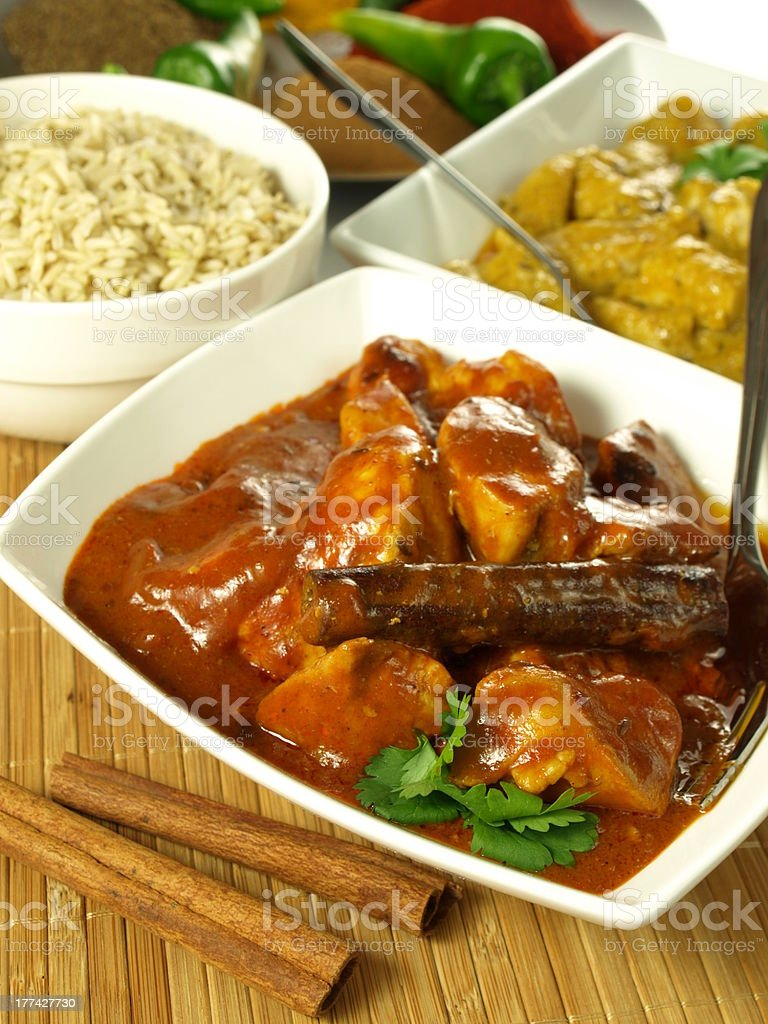 Curry chicken royalty-free stock photo