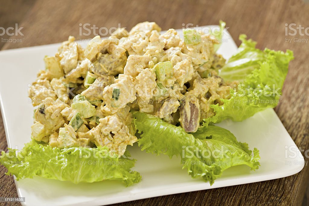 Curry Chicken Salad stock photo