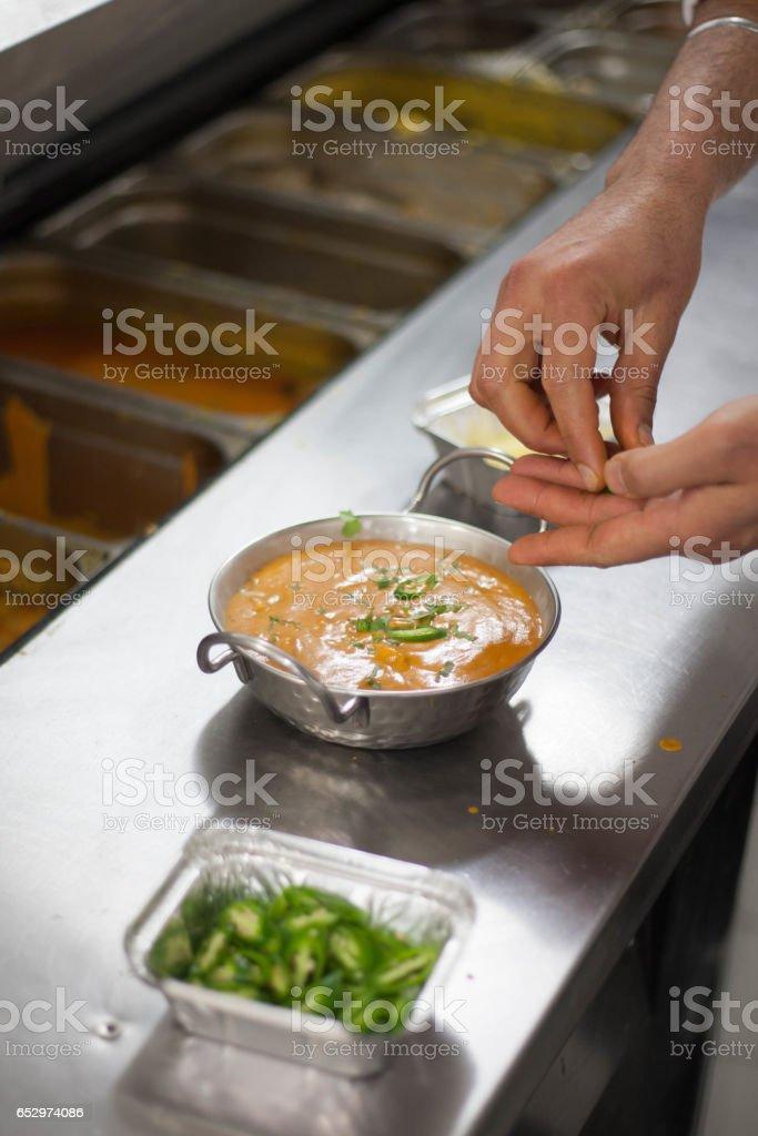 Curry chickhen stock photo