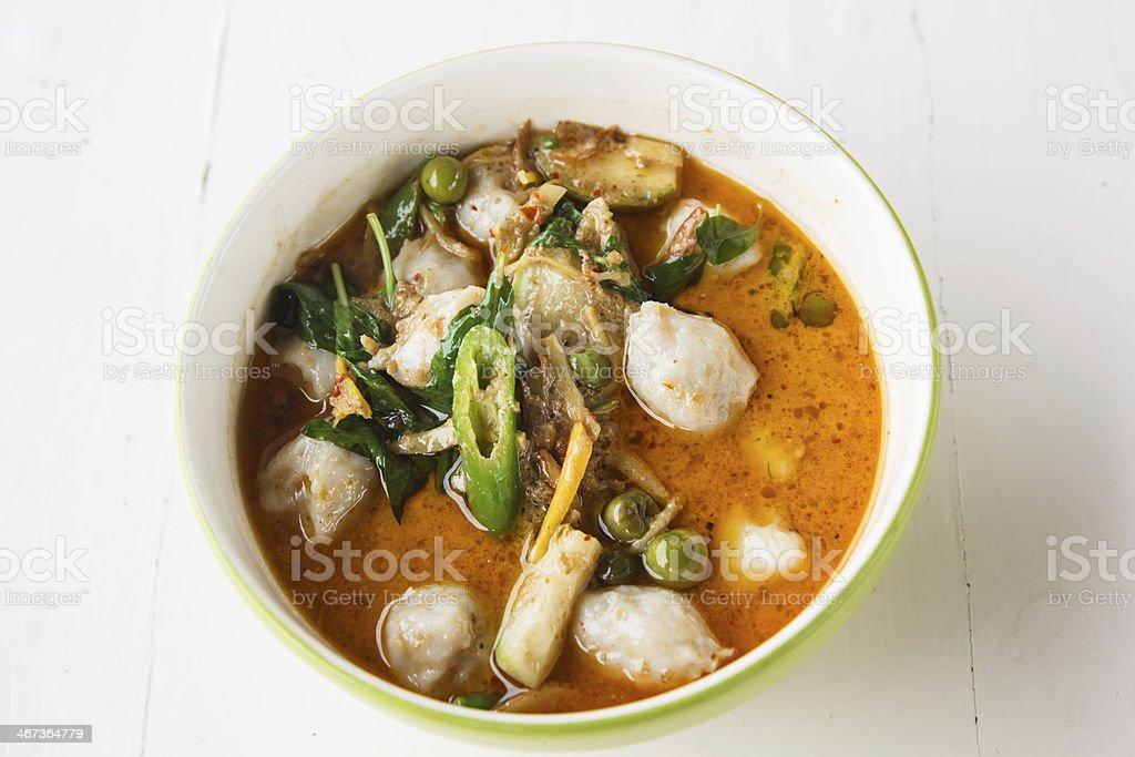 Curry Fish Balls royalty-free stock photo