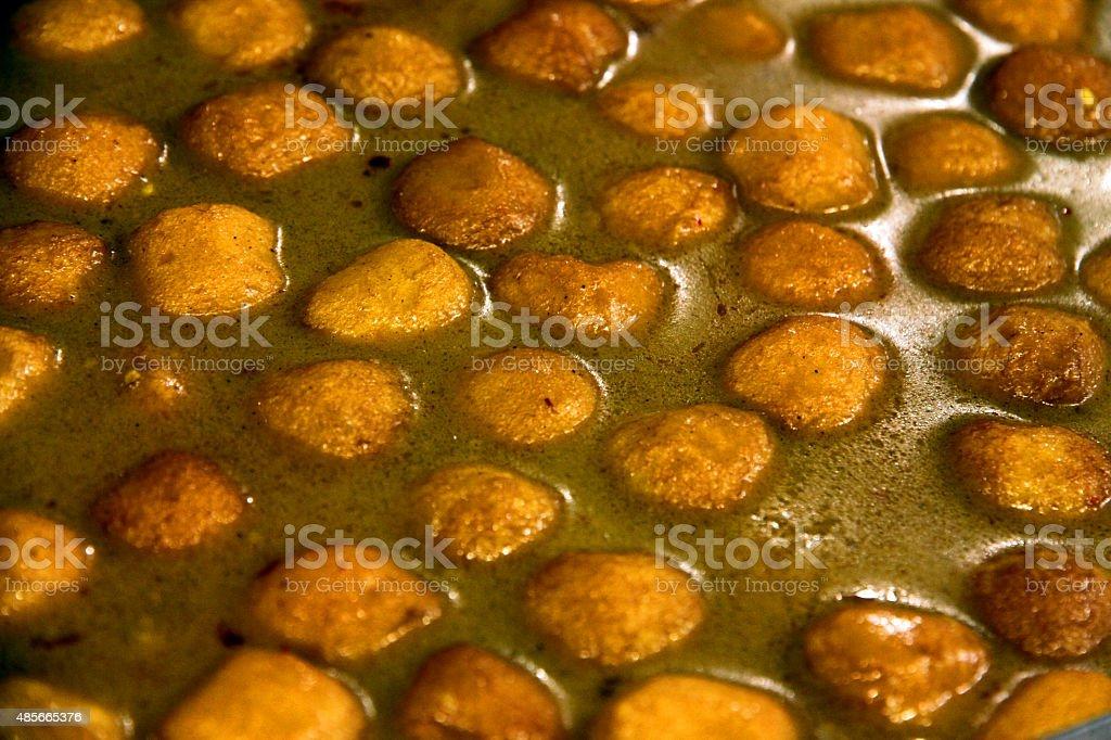 Curry Fish Balls stock photo