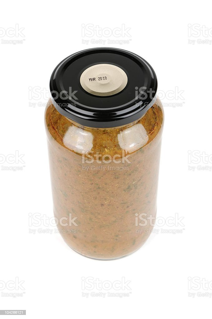 Curry In Jar royalty-free stock photo