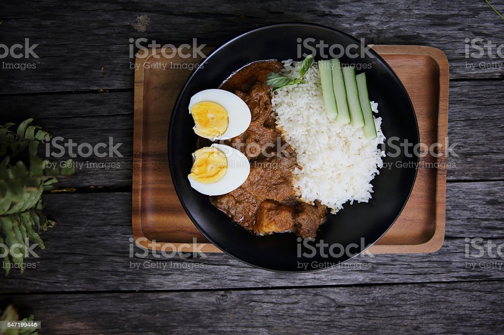 Curry rice stock photo