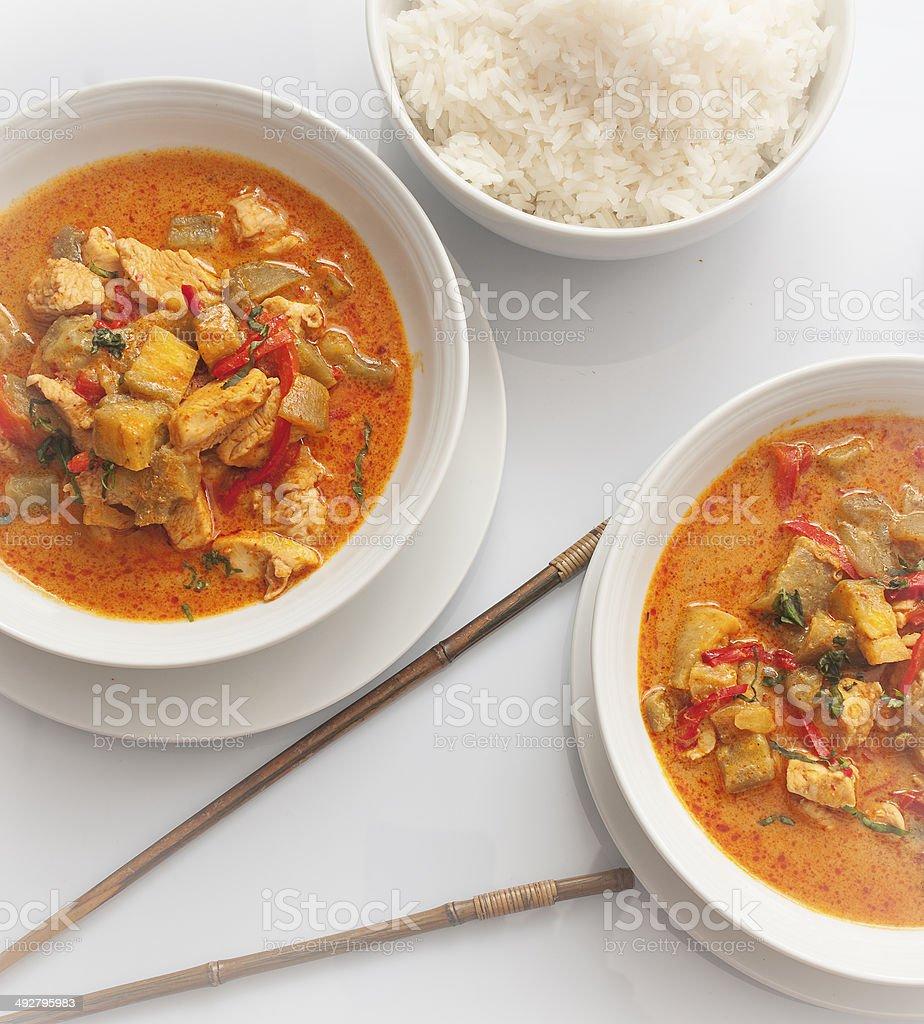 curry rojo tailand?s stock photo