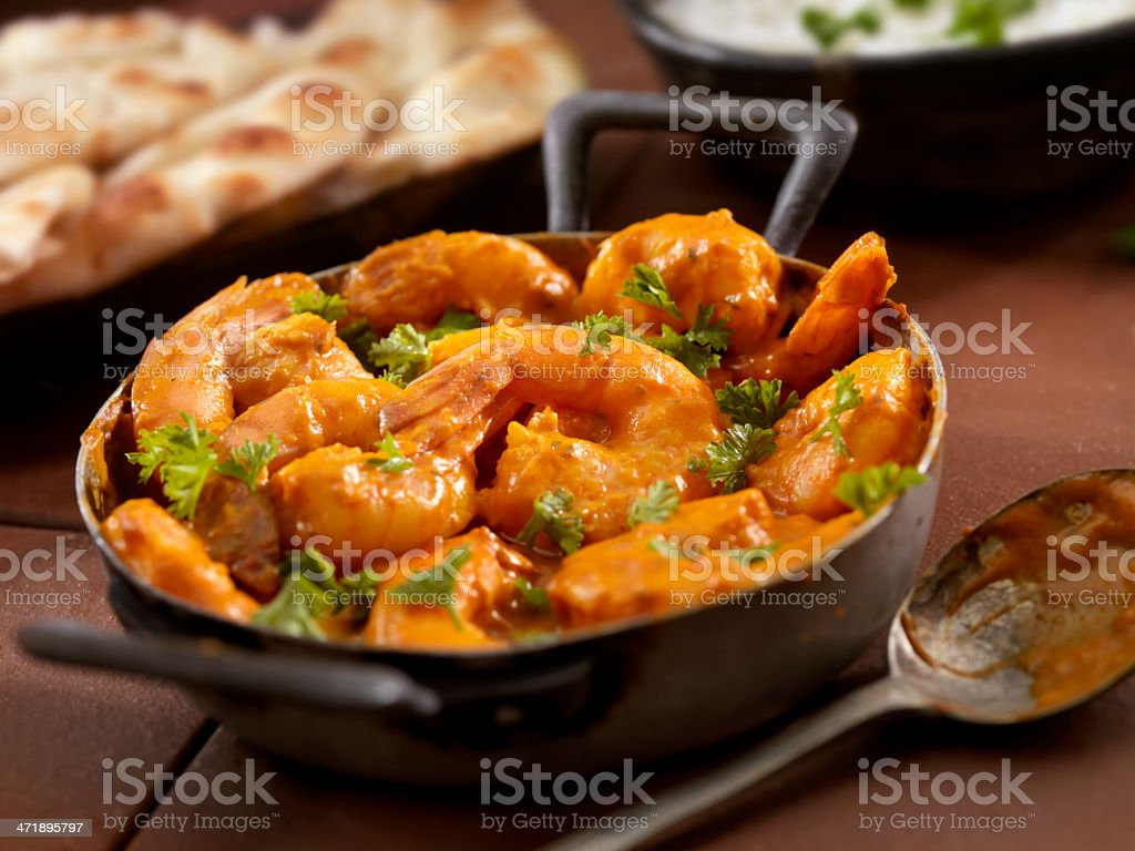 Curry Shrimp stock photo