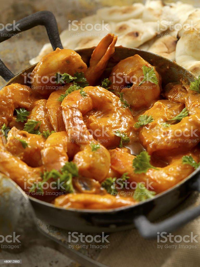 Curry Shrimp stock photo