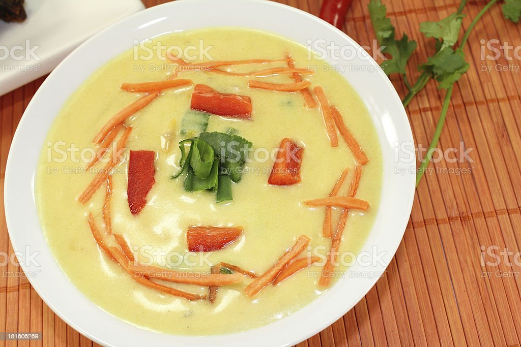 Curry Soup stock photo