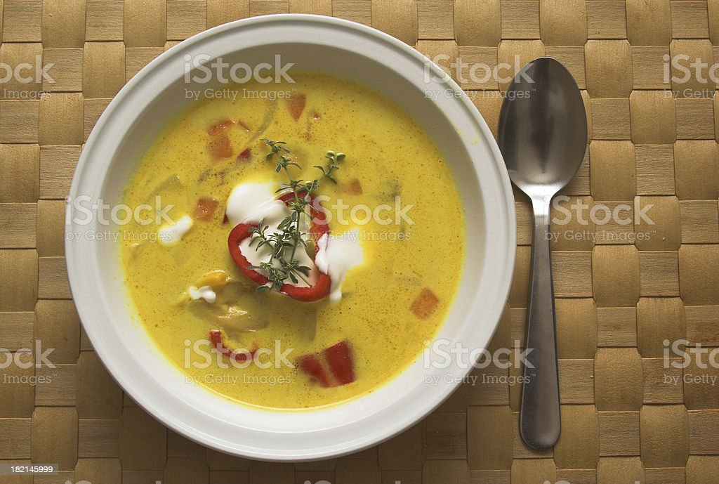 Curry soup royalty-free stock photo