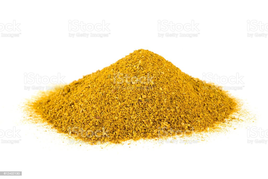 curry spice pile stock photo