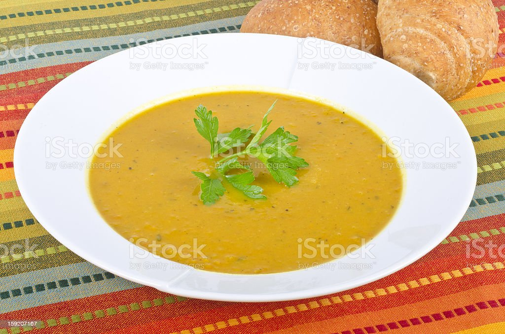 Curry Sweet Potato Soup royalty-free stock photo
