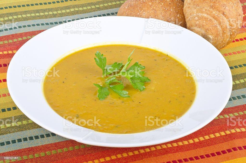 Curry Sweet Potato Soup stock photo
