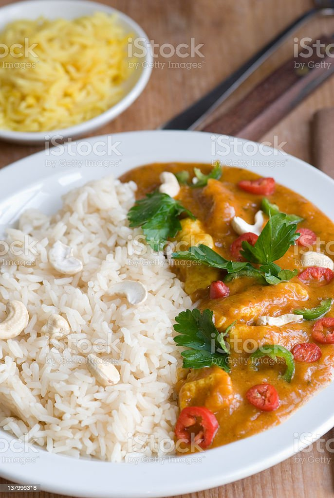 Curry with rice royalty-free stock photo