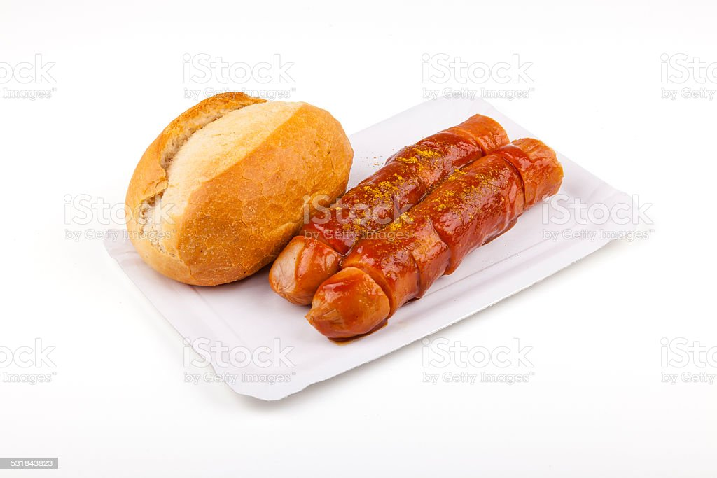 Currywurst - german sausage stock photo