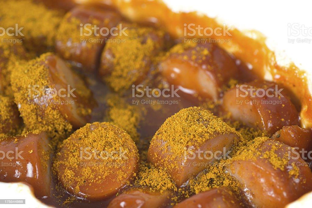 currywurst macro stock photo