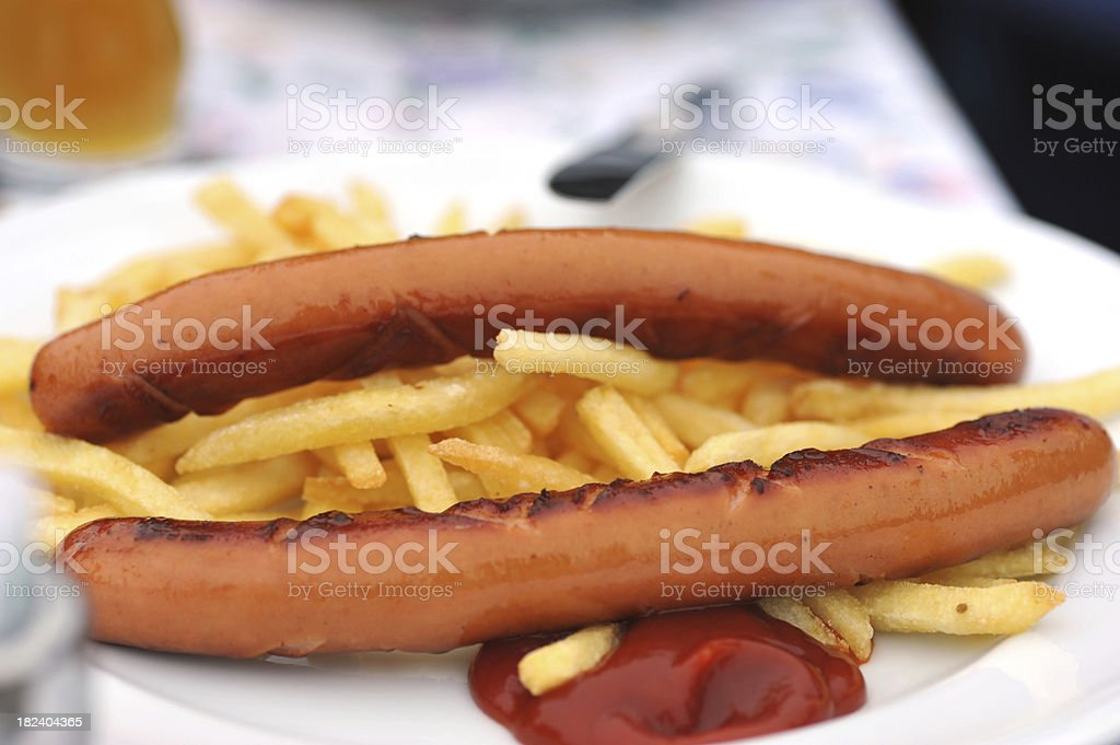 currywurst mit Pommes royalty-free stock photo