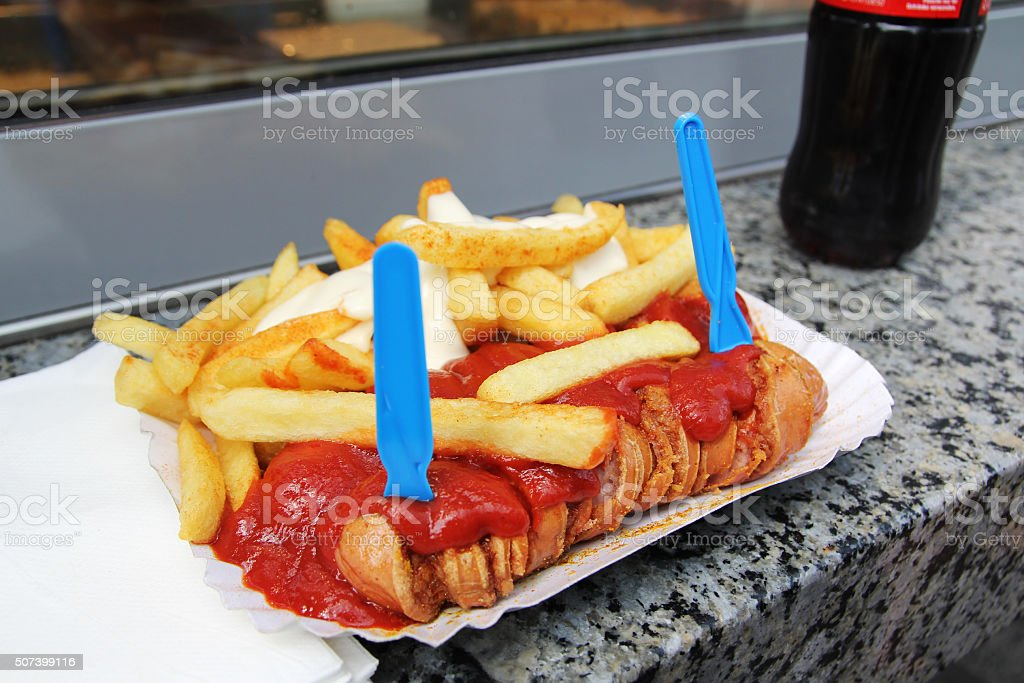 currywurst stock photo