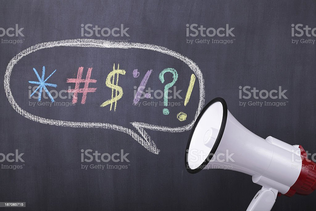Cursing Aloud stock photo