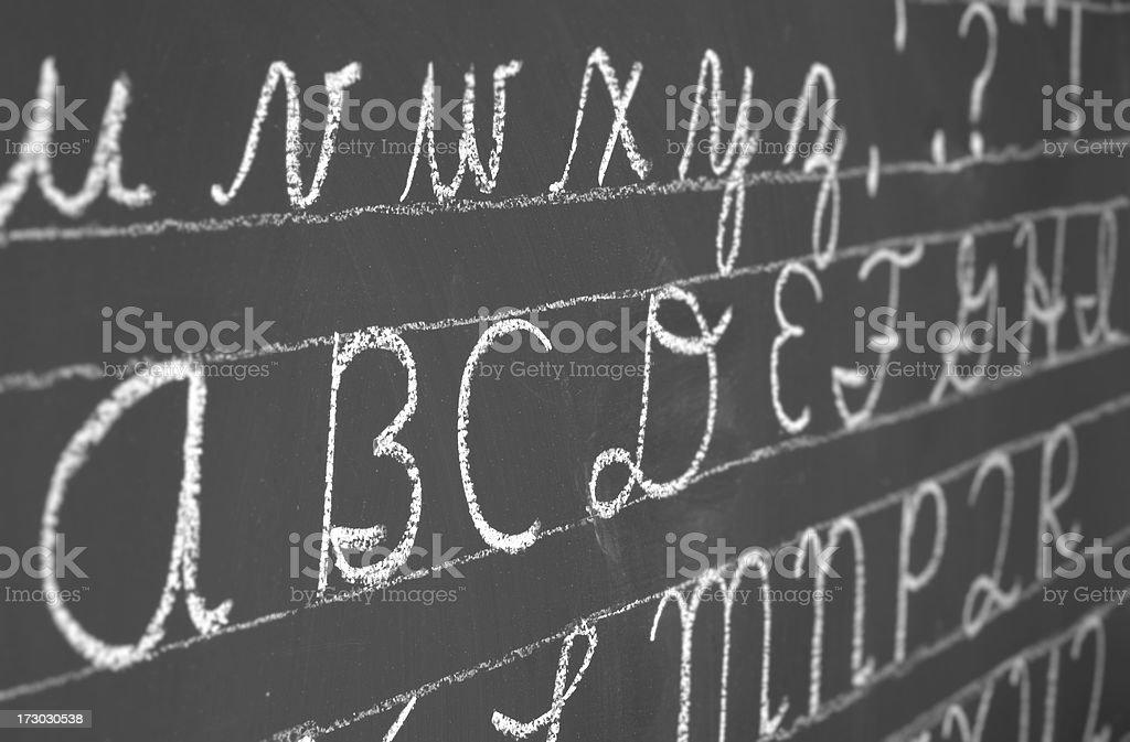 cursive alphabet royalty-free stock photo