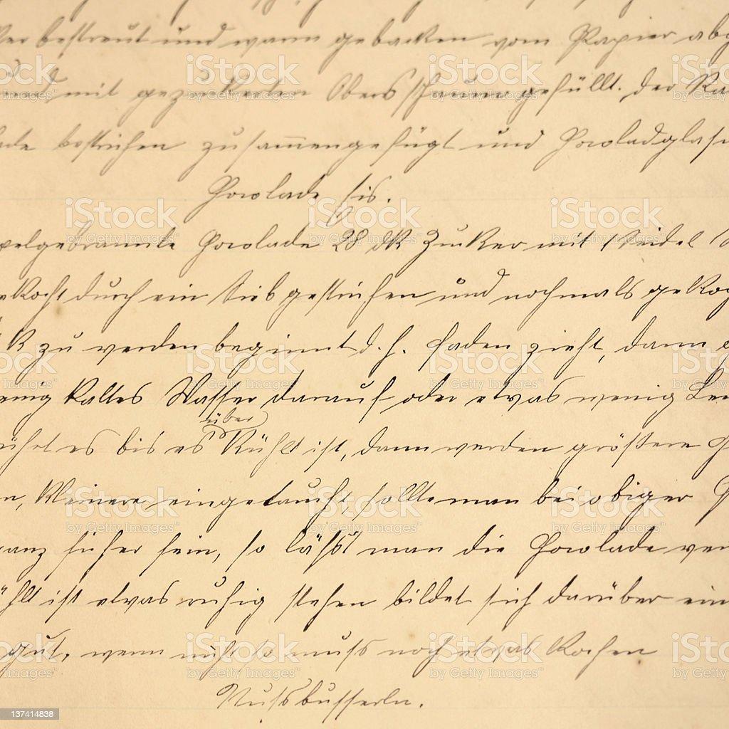 Cursive handwriting royalty-free stock photo
