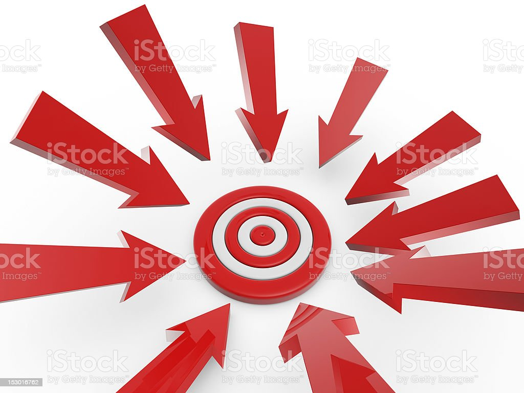cursor arrow on target royalty-free stock photo