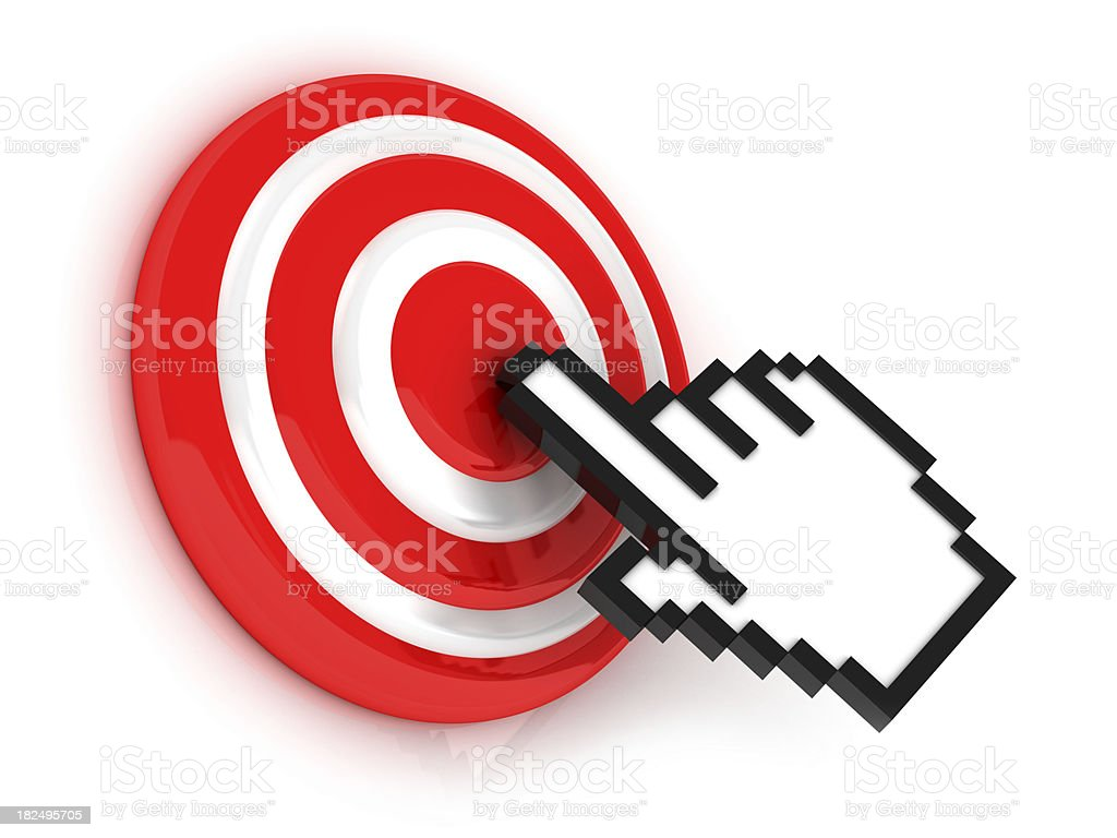 Cursor in target royalty-free stock photo
