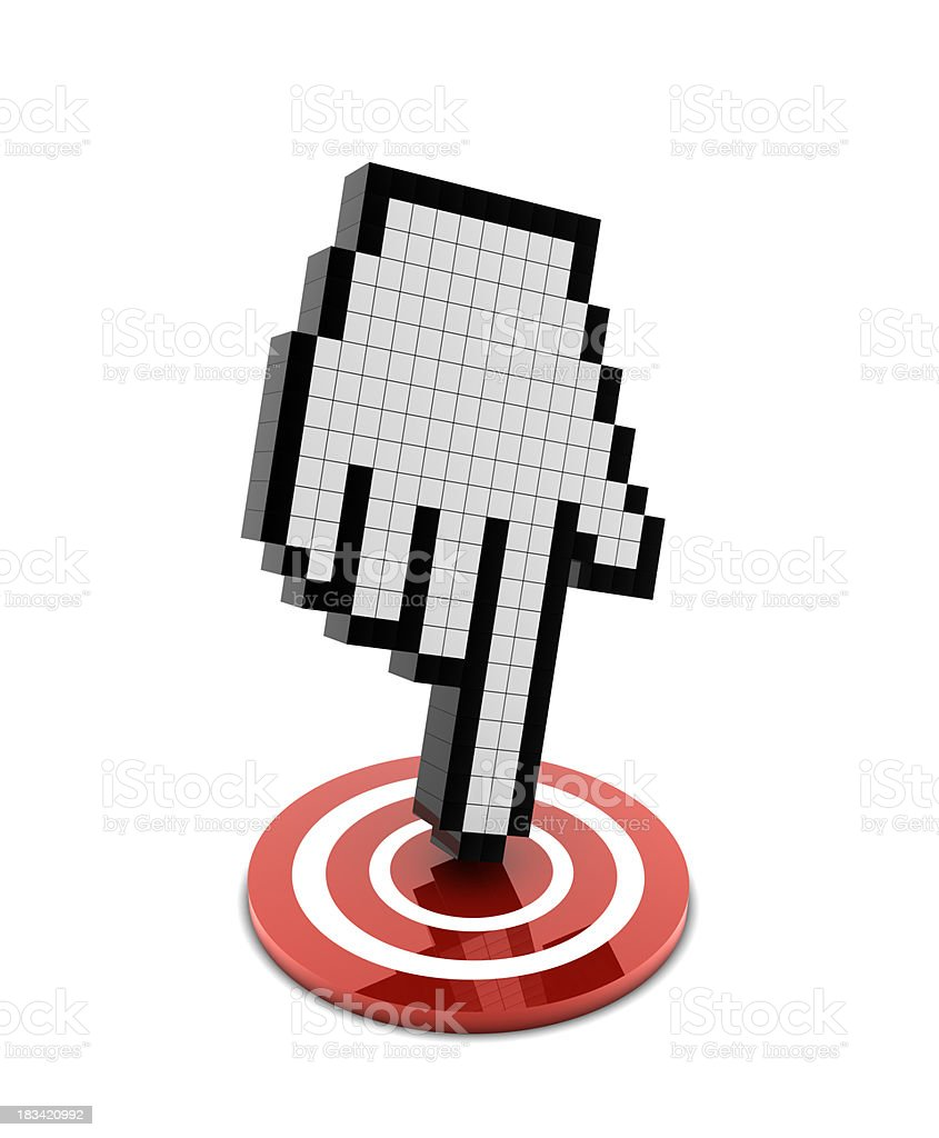 Cursor on Target royalty-free stock photo