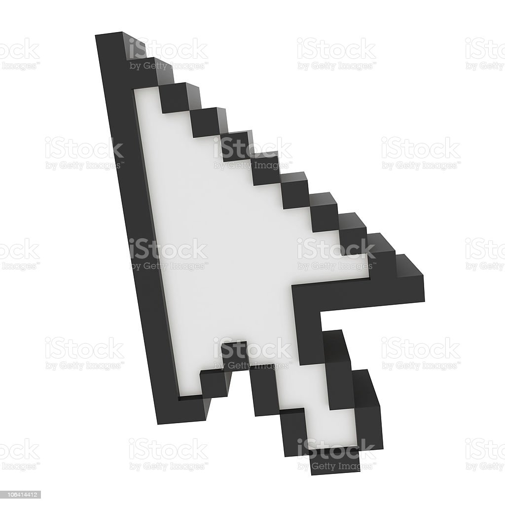 3D Cursor stock photo