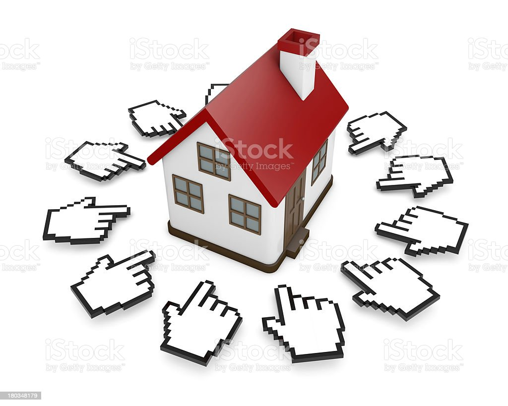 Cursors and house royalty-free stock photo