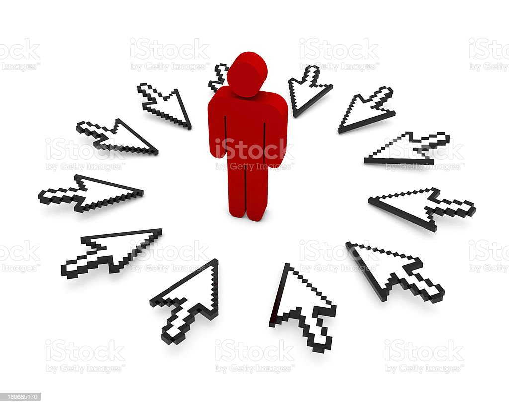 Cursors and the man royalty-free stock photo