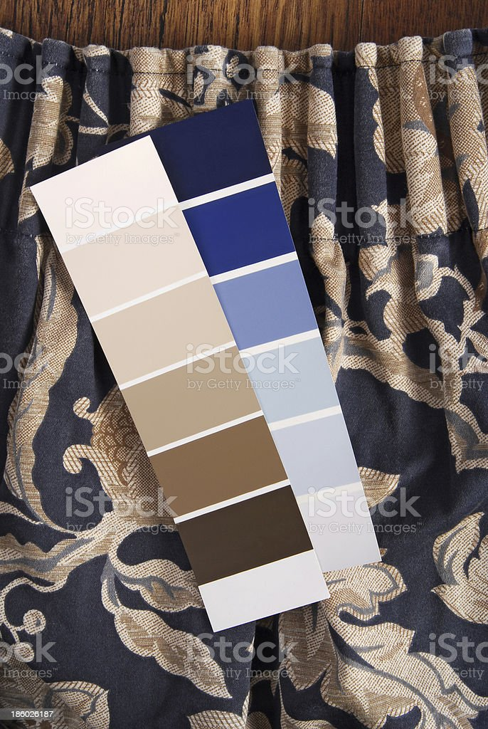 curtain and color choice for interior royalty-free stock photo
