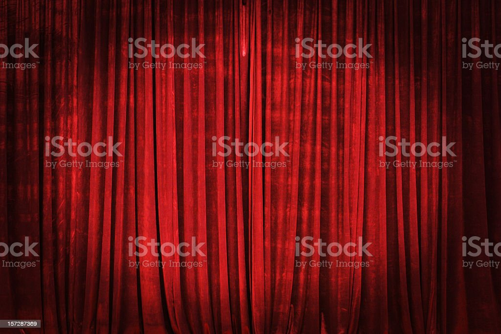 Curtain Attention stock photo
