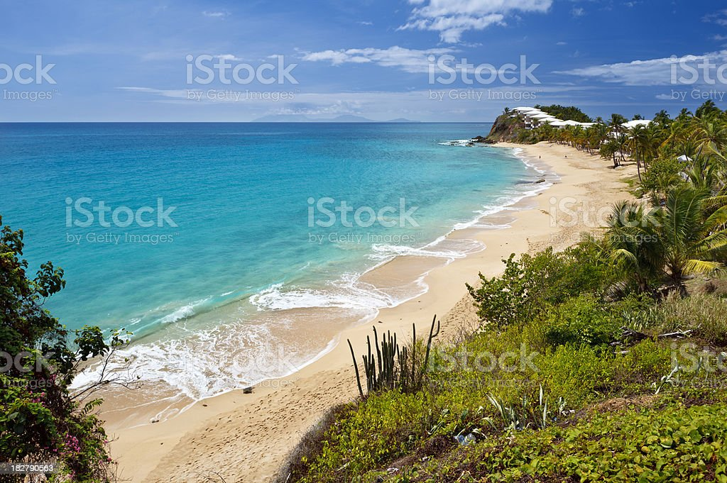 Curtain Bluff Beach, Antigua stock photo