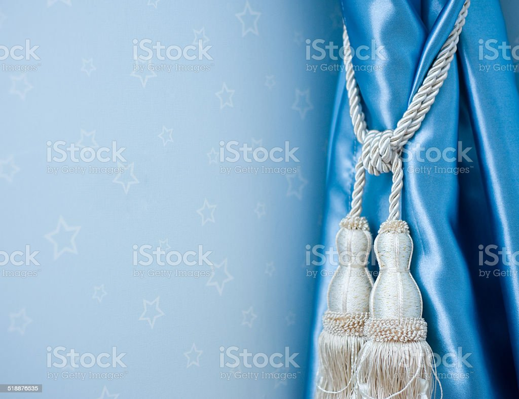 curtain detail stock photo