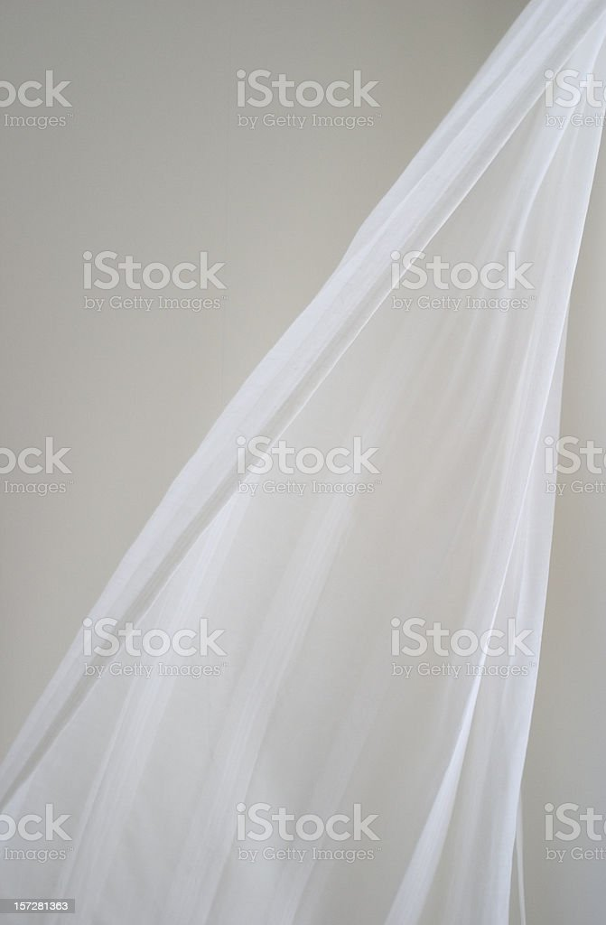 curtain in breeze stock photo