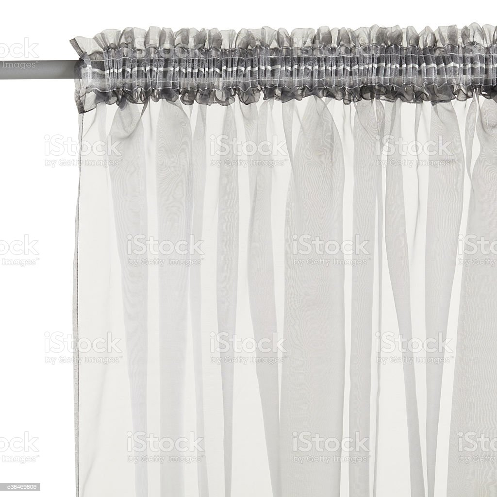 Curtain isolated on white stock photo