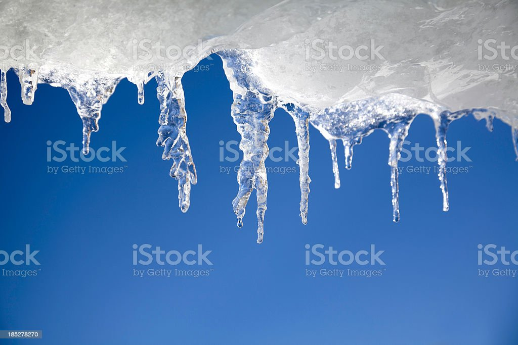 Curtain of Icicles stock photo
