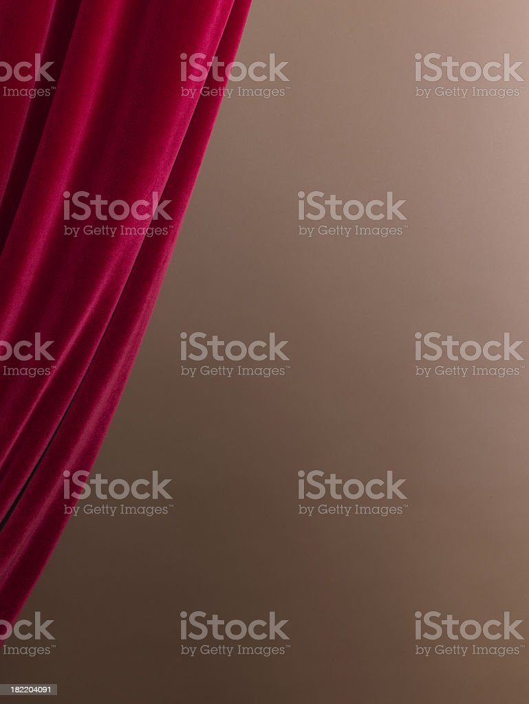 Curtain of red velvet. royalty-free stock photo