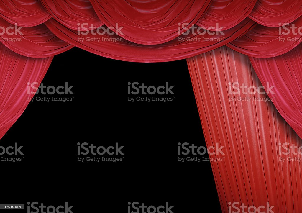 Curtain opens stock photo