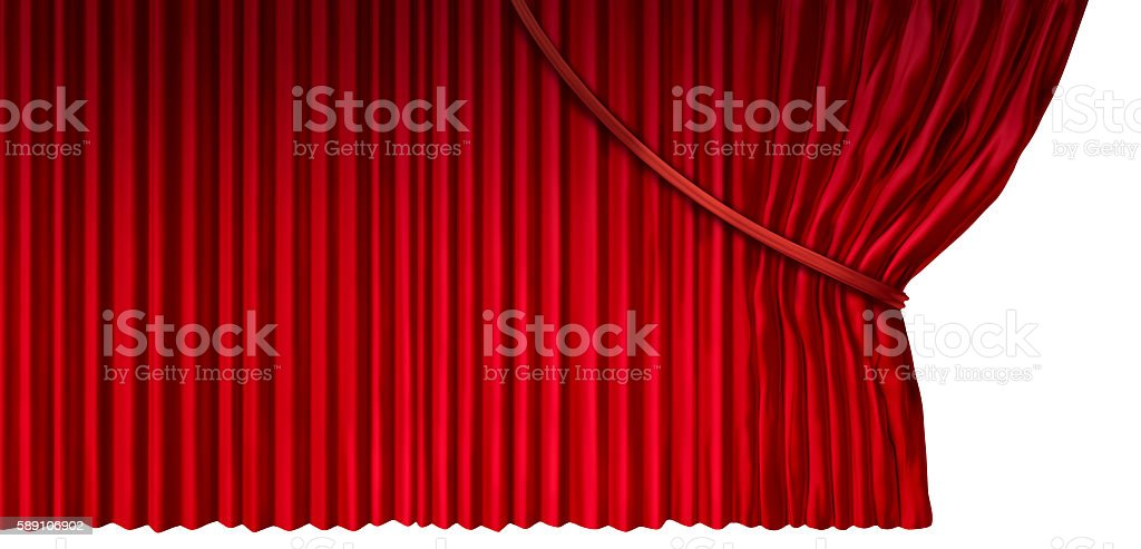 Curtain Reveal stock photo